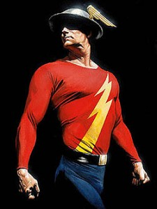 Alex Ross created Flash a fictional comic book superhero  portrayed here by Jay Garrick.