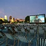 Outdoor summer cinema