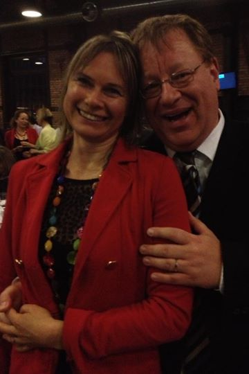 Toastmasters where love is made: Dirk Loeffelbein asks Maija Kadlecova to marry him.